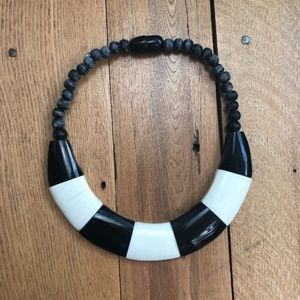 Vintage Acrylic Bead Statement Collar Necklace
